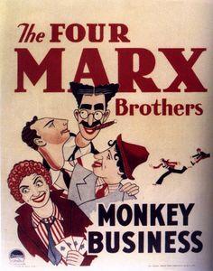 Monkey Business, Pistoleros de agua dulce es un largometraje de los Hermanos Marx, filmado en 1931 por la casa Paramount, y dirigida por Norman Mcleod. Escrita por S.J. Perelman y Will B. Johnston. Con Thelma Todd, Rockcliffe Fellowers, Harry Woods, Ruth Hall y Tom Kennedy. Como todo largometraje de estos cómicos estadounidenses, está infestado de juegos de lenguaje y de absurdos hilarantes. Principalmente en los diálogos de Chico y Groucho Marx.