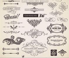 free Vintage decorative ornate elements vector