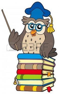 Wise owl teacher on various books - vector illustration Poster Poster. Owl Cartoon, Owl Photos, Teacher Books, Wise Owl, Ex Libris, Art Activities, Book Illustration, Illustrations Posters, Smurfs