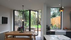 Considering adding a small extension to your home? Bi-fold doors are perfect for. - Rear extension Considering adding a small extension to your home? Bi-fold doors are perfect for. Bi Folding Doors Kitchen, Kitchen Doors, Bi Fold Patio Doors, Kitchen Extension With Bifold Doors, Bi Fold Doors, Bifold Doors Onto Patio, Kitchen Reno, Kitchen Cabinets, Glass Extension