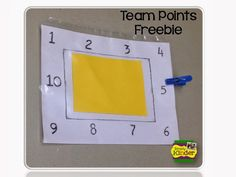 Free team point tracking system for groups!  A student moves the clip around the paper ask they earn points!  #SimplyKinder