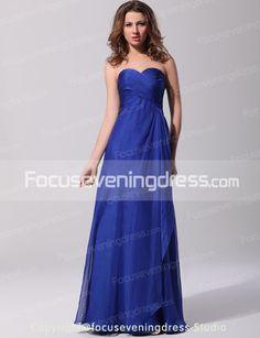 Glamorous A-Line Sweetheart Neckline Ruffles Floor-Length Evening Dresses-FocusEveningDress