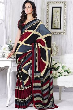 Ingenious Indian Mustard Printed Border Work Bollywood Sari Georgette Casual Wear Saree Cheap Sales 50% Other Women's Clothing Clothing, Shoes & Accessories