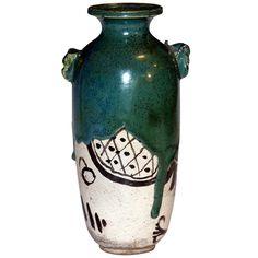 Antique Oribe Tea Ceremony Vase | Antique Oribe vase