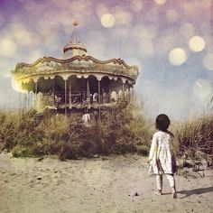Merry-go-round... that place in our daydreams where our child self wanders...taking us back to the wonder, the joy and the magic we felt before we were taught those feelings were wrong to feel. If you are lucky and wise you will find one again and unlearn.  ...Carol