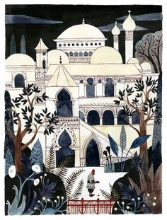 beautiful gouache painting by favorite illustrator Carson Ellis. Carson Ellis, Art And Illustration, Guache, Gouache Painting, Art Photography, Layout, Art Prints, Drawings, Middle East