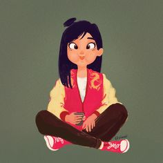 Disney Fan Art, Punk Disney, Mushu Mulan, Girl Cartoon, Cartoon Art, Cute Cartoon, Disney Princess Pictures, Disney Pictures, Adventure Time Anime