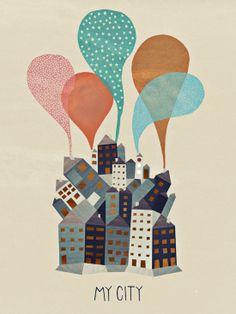 My City - Michelle Carlslund Illustration