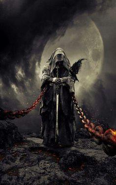 Ideas Fantasy Art Dark Horror For 2019 Dark Fantasy Art, Fantasy Kunst, Fantasy Artwork, Grim Reaper Art, Grim Reaper Tattoo, Ange Demon, Arte Obscura, Dark Lord, Angels And Demons
