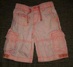 Baby Gap boys 3T neon orange pull on cargo shorts