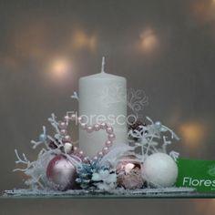 Vánoční svícen hvězda růžový větší  Květinářství Floresco  Vyrobila Šárka Pleskačová