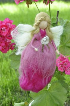 Wool Fairy needle felted fairy Waldorf fairy Waldorf by DemannaArt