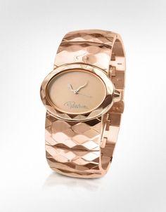 Roberto Cavalli  Multiface - Signature Rose Gold Plated Bracelet Watch