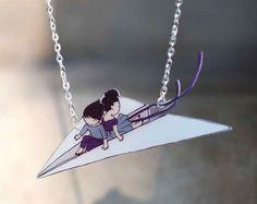 Paper Plane Ride Necklace by Stasia Burrington in Shrink! Shrank! Shrunk!
