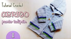 Suscríbete a este canal aquí: http:& Este suéter o abrigo a crochet está diseñado para bebés. http:& Espero te guste el video. Crochet Cardigan, Knit Crochet, Crochet Hats, Knitting Videos, Crochet Videos, Baby Staff, Knit Cardigan Pattern, Crochet Baby Clothes, Crochet For Boys
