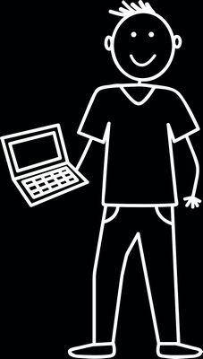 Vader met laptop, autosticker. Vader, Laptop, Laptops, The Notebook