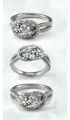 Love Knot Pear Shape Diamond Engagement Ring