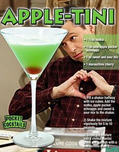 Millions of People Enjoy Pocket Cocktails. Check out our World Famous Drink Posters. Liquor Drinks, Fruit Drinks, Cocktail Drinks, Yummy Drinks, Beverages, Apple Pucker Drinks, Sour Apple Pucker, Appletini Recipe With Apple Pucker, Mixed Drinks Alcohol
