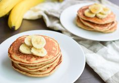 Healthy Banana Pancakes Recipe by Tasty Most Nutritious Foods, Healthy Foods To Eat, Super Healthy Recipes, Healthy Dinner Recipes, Banana Protein Pancakes, Protein Packed Breakfast, Iron Rich Foods, Tasty, Yummy Food