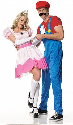 mario & princess costume....now if I can figure out how to do this homemade, I'll be all set for Halloween! LoL