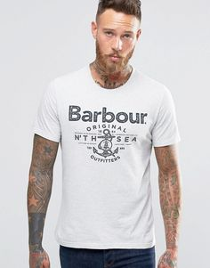 barbour decoy graphic print shirt white