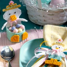 Easter Party Ducks Plastic Canvas Patterns
