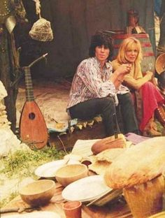 """Anita Pallenberg and Keith Richards """