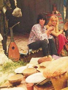 """Anita Pallenberg and Keith Richards """