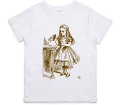 El Cheapo Alice in Wonderland - Drink Me (Brown) Youth White T-Shirt