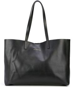Black leather Strauss shopper tote from Want Les Essentiels De La Vie featuring shoulder straps, a front centre logo stamp, a top magnetic closure and an internal slip pocket. Beach Signs Wooden, Beach Humor, Tote Bags Online, Logo Stamp, Shopper Tote, Online Shopping For Women, Luxury Branding, Women Wear, Black Leather