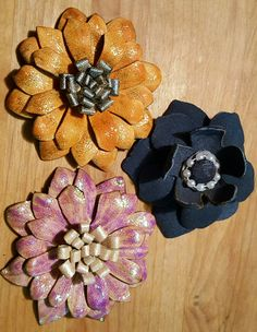 My leather flowers,  my 1st.