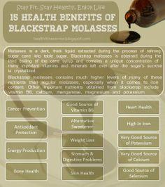 Health benefits of organic, unsulphured blackstrap molasses