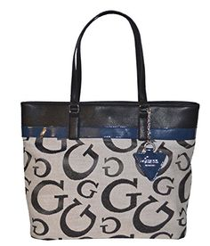 Guess Signature Buenos Dias Tote Purse Handbag Black Black Handbags, Purses And Handbags, Tote Purse, Tote Bags, Baby Gifts, Wristlets, Designer Handbags, Wallets, Leather
