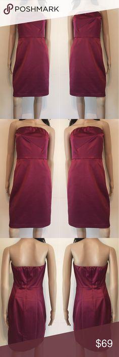 🌺 Dark Cherry Red Strapless Dress 🌺 Dark Cherry Red Strapless Dress The Limited Dresses Strapless
