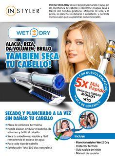 In Styler Wet 2 Dry A3D Chile Plancha y seca tu pelo a la vez. Obtén un pelo liso y sedoso aun cuando esté mojado