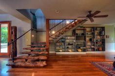 Stairs in Maui home...awesome!