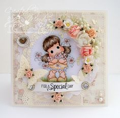 A Sprinkling of Glitter: Friends & Golden Week Tilda - Simon Says Stamp DT Card