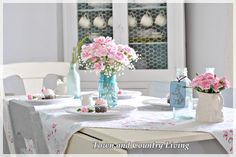 Beating the winter blues with a little pink in the dining room