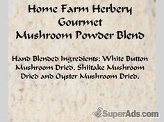 Mushroom Powder Blend, Order now, FREE shipping in Pittsburgh PA - Free Pittsburgh SuperAds