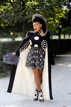 Janelle Monáe Paris Fashion Week Photo by Wayne Tippetts her knees are even sexy.