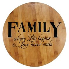 """Family"" Lazy Susan from @Crafts Direct. Click through link for a tutorial!"