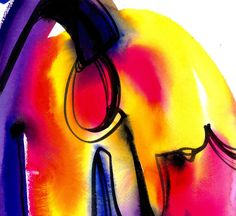 Watercolor Abstraction 120 .. Original by KathyMortonStanion