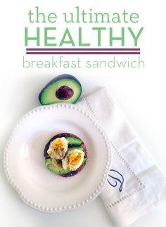 Avocado & Egg Breakfast Sandy + Healthy Filling Start For The Day