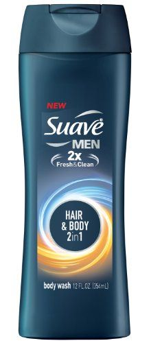 Suave Men Body Wash and Shampoo 2 in 1 Hair and Body 12 oz Pack of 6 -- This is an Amazon Affiliate link. Want to know more, click on the image.