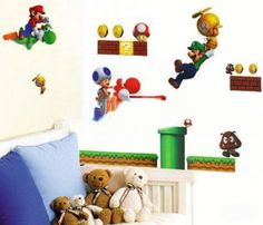 Amazon.com: Eozy Super Mario Bros PVC Removable Reusable Wall Sticker Home Decor for Kids /Nursery /Boys /Girls /Children Room Bedroom Art Decals: Baby