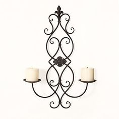 FrameArmy Iron and Glass Vertical Wall Hanging Candle Holder Sconce Holds Two Pillar Candles >>> Read more  at the image link.Note:It is affiliate link to Amazon.