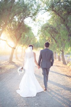 And they walked off into the sunset...Photography by thisloveofyours.com Read more - http://www.stylemepretty.com/2013/06/11/whimsical-california-wedding-from-this-love-of-yours-photography/