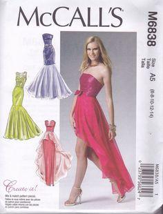 Mccalls motifs de coupe m6030-Robe-Habits de mariage-soirée Robes