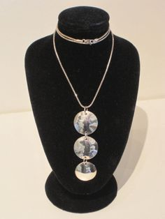 Sterling Silver 3 Disc Necklace by Tay Silver