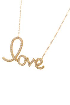 """""""Love"""" Necklace."""